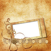 Victorian background with stamp-frames — Stock Photo