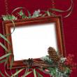 Vintage christmas frame — Stockfoto