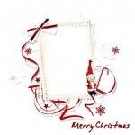 White Christmas frame — Stock Photo