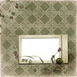 Victorian background with stamp-frames - Stock Photo