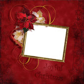Vintage christmas frame — Stock Photo