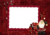 Holidays frame with Santa — Stock Photo