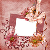Vintage wallpaper with frame — Stock Photo