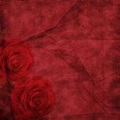 Vintage elegant background with rose — Stock Photo