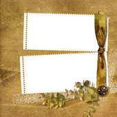 Victorian background with stamp-frame — Stock Photo