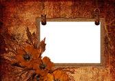 Frame with poppy — Stock Photo