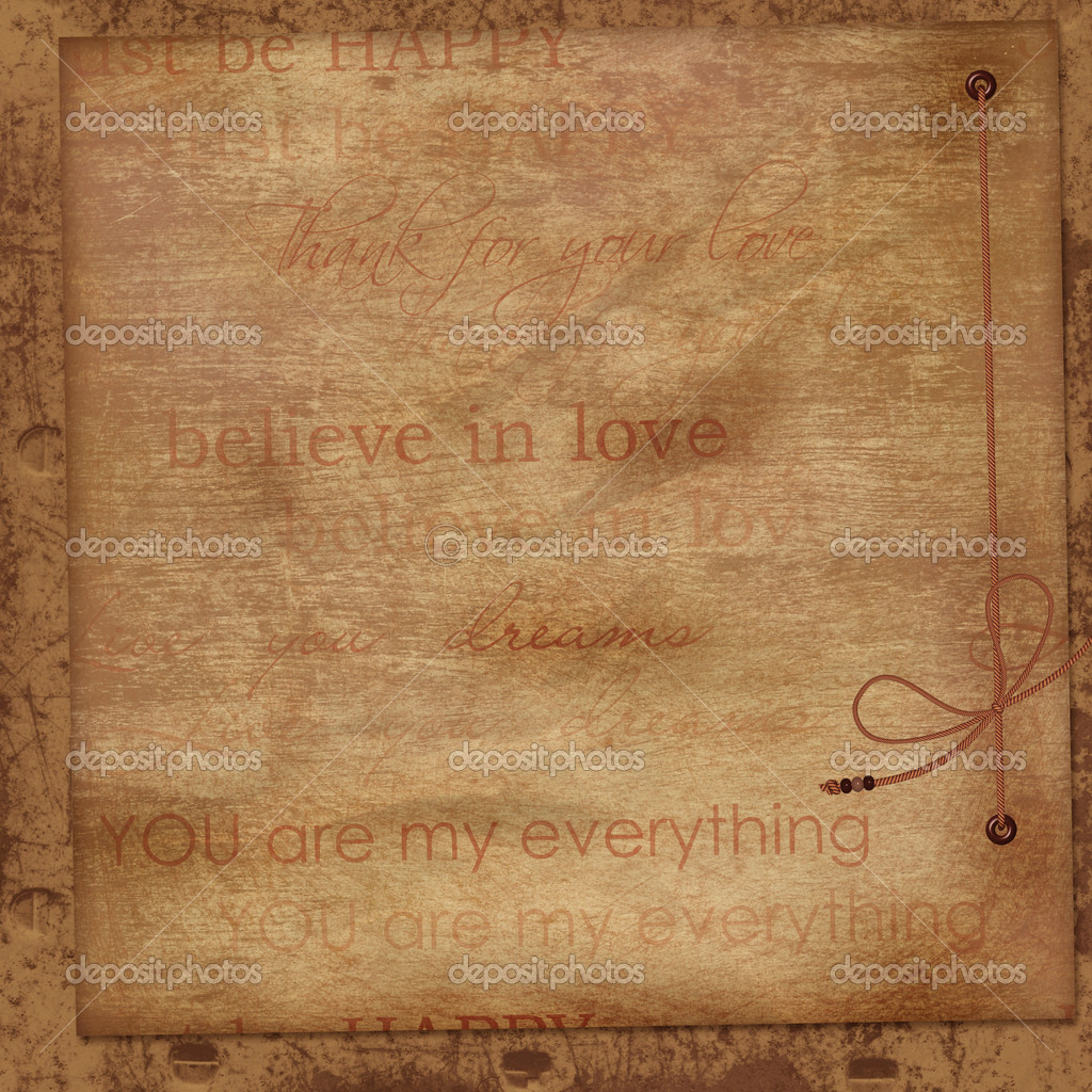 Vintage background with love word art — Stock © chiffa