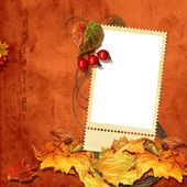 Colorful autumnal frame — Stock Photo
