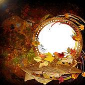 Vintage autumn frame — Stock Photo