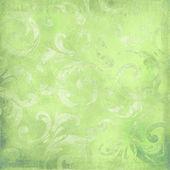 绿色的维多利亚女王时代背景 — 图库照片