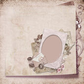 Vintage elegant frame with envelope — Stock Photo