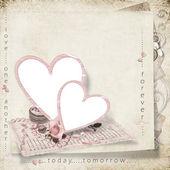 Romantiska ram för foto — Stockfoto