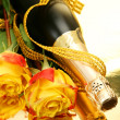 Champagne and roses — Stock Photo #1229608