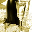 Champagne and roses - Lizenzfreies Foto