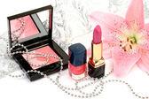 用的化妆品dekorativt smink för — 图库照片