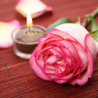 Rose and candle — Stock Photo #1246350