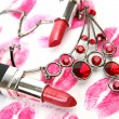 Lipstick and ornament — Stock Photo #1292899