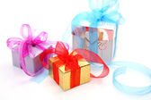 Boxes with gifts — Stok fotoğraf