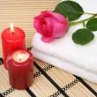 Stock Photo: Towel and rose
