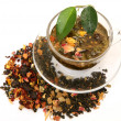 Stock Photo: Tea with dried fruit