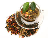 Tea with dried fruit — Stock Photo