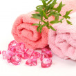 Stock Photo: Pink towels
