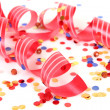 Streamer and confetti — Stock Photo
