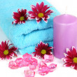 Stockfoto: Towel and flowers