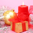 Royalty-Free Stock Photo: Candle and gift