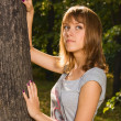 Teenage girl in the park — Stock Photo