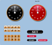 Clock — Vettoriale Stock