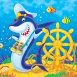 Captain Shark — Foto Stock