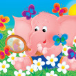 Pink elephant — Stock Photo