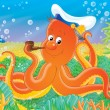 Octopus Captain — Foto Stock