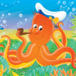 Octopus Captain — Stock Photo