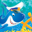 White shark Captain — Stock Photo #1945472
