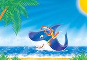 Grande tubarão branco — Foto Stock