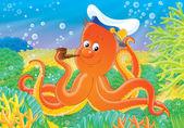 Octopus Captain — Stock Photo