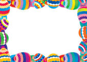 Easter border — Stock Photo