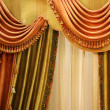 Beautiful curtain on  window - Stock Photo