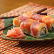 Sushi end rolls - Stock Photo