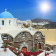 View over town Oiisland Santorini — Stock Photo #1225355