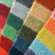 Stock Photo: Samples of color of a carpet