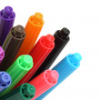 Multicolored felt tip pens - Stock Photo