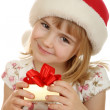 Royalty-Free Stock Photo: Small girl with  christmas hat
