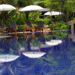 Tropical pool in luxury hotel — 图库照片