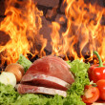 Fresh meat , vegetables — Stock Photo #1226489