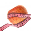 Royalty-Free Stock Photo: Apple and measurement tape