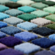 Samples of color of a carpet covering — Stockfoto