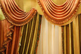 Beautiful curtain on window — Stock Photo